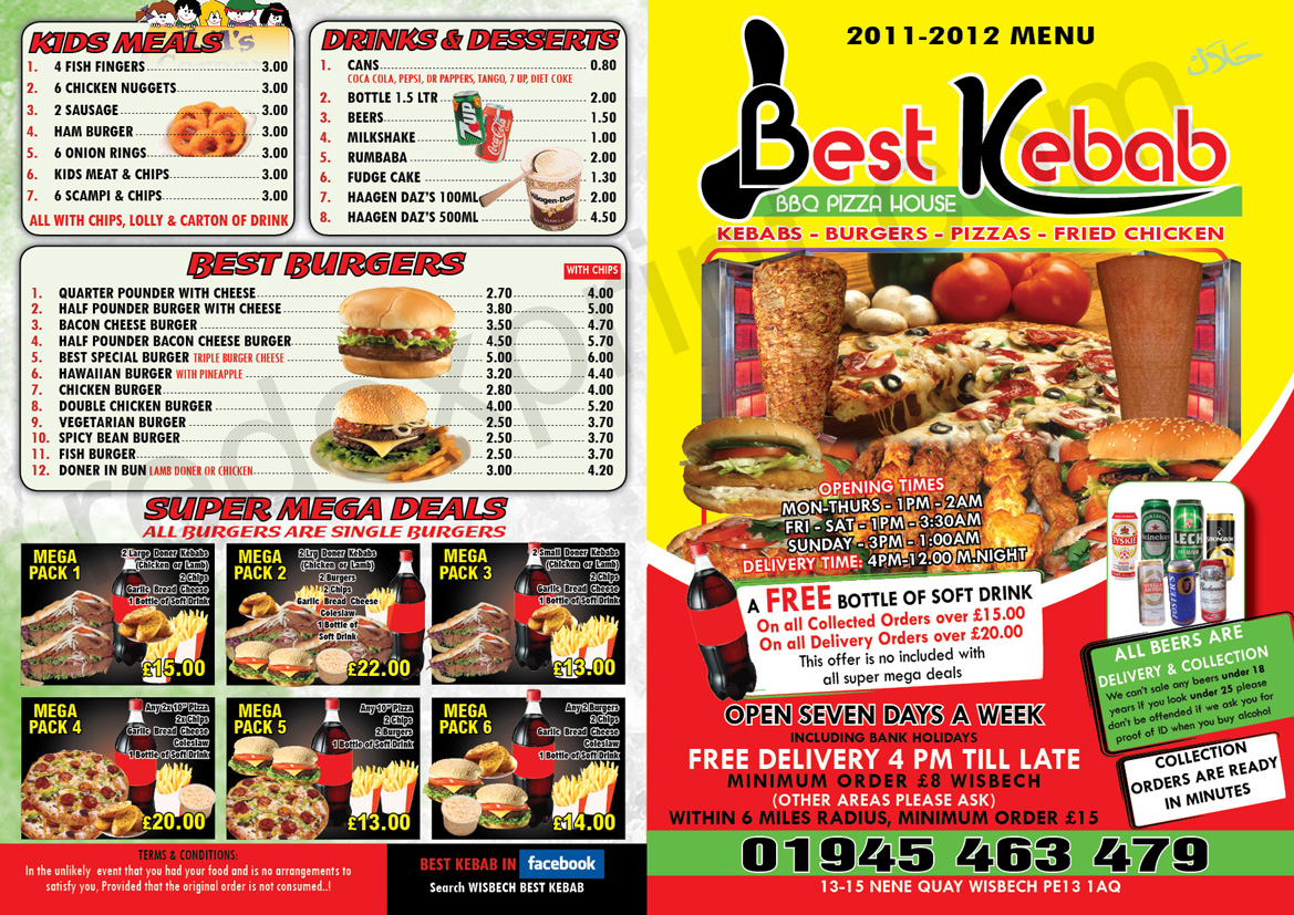 Best kebab house wisbech takeaway opening times and reviews for King s fish house menu